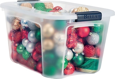 Bella Storage Solution® 40 Quart Plastic Container, Clear with Locking Lid