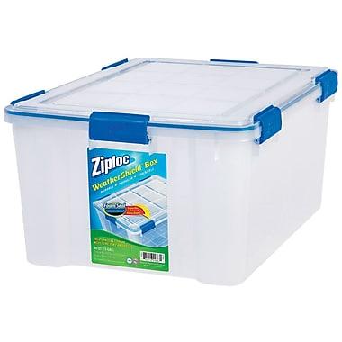 Ziploc 60 Quart WeatherShield Storage Box, 4/Pack (394016)