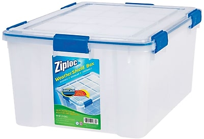 Ziploc 60 Quart WeatherShield Storage Box, 4/Pack (394016)
