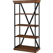 "St. Clair 4 Shelf 60"" Laminate Bookcase, Walnut"