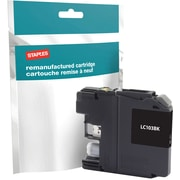 Staples® Remanufactured Inkjet Cartridge, Brother LC-103XL (LC103Black), High Yield, Black