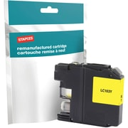 Staples® Remanufactured Inkjet Cartridge, Brother LC-103XL (LC103Y), High Yield, Yellow