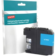 Staples® Reman Inkjet Cartridge, Brother LC-105XXL (LC105C), Cyan, Super High Yield