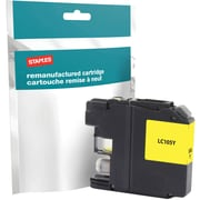 Staples® Reman Inkjet Cartridge, Brother LC-105XXL (LC105Y), Yellow, Super High Yield