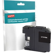 Staples® Reman Inkjet Cartridge, Brother LC-107XXL (LC107BK), Black, Super High Yield