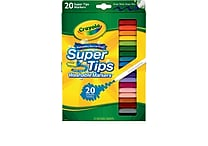 Crayola® Washable Super Tips Markers (58-8106), 20/Box