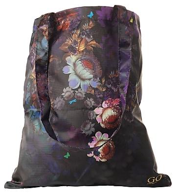 Cynthia Rowley Foldaway Tote Bag, Cosmic Black Floral, Canvas (28784)