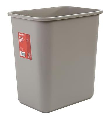 Brighton Professional 7 Gallon Plastic Wastebaskets, Beige (22178/19211)