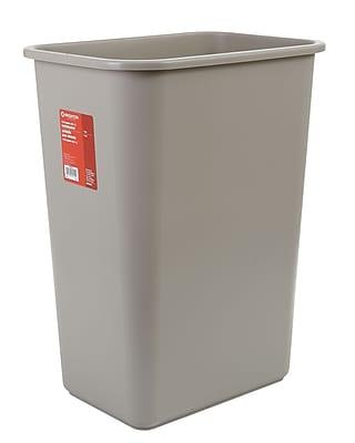 Brighton Professional™ Soft Molded Wastebasket, 10.25 Gallons, Beige, 20