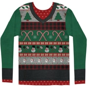 Ugly Xmas Sweater with Candy Canes S-XXL