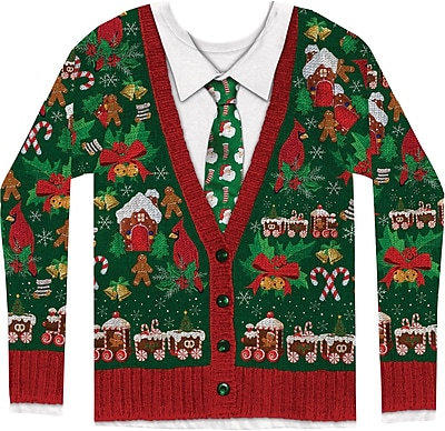 Men's Ugly Xmas Cardigan L