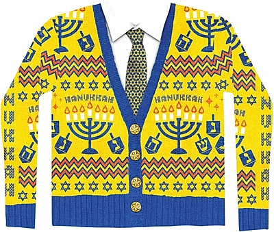 Ugly Hanukkah Sweater L