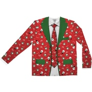 Red Xmas Matching Suit & Tie Sweater S-XXL