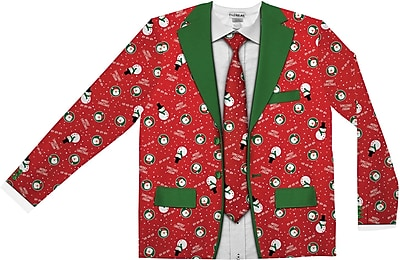 Red Xmas Suit & Tie XXL