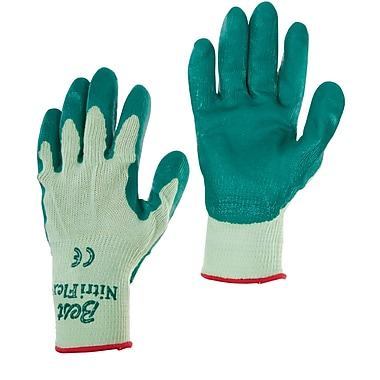Best Manufacturing Company Green Nitrile Coated 12 / Pack Flex Gloves, Size 8