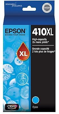 Epson 410XL Cyan Ink Cartridge, High Capacity (T410XL220)