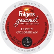 Keurig Folgers Lively Colombian Coffee Regular 24 K-Cups/Pack (6659)