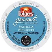 Keurig® Folgers® Vanilla Biscotti Coffee, Regular, 24 K-Cups/Box (6661)