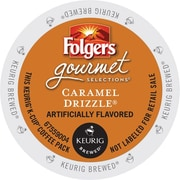 Keurig K-Cup Folgers Caramel Drizzle Coffee Regular 24 K-Cups/Pack (6680)