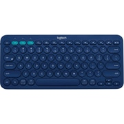 Logitech K380 Wireless Bluetooth Compact Multi-Device Keyboard for Computers, Tablets and Smartphones, Blue (920-007559)