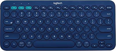 Logitech K380 Bluetooth Keyboard, Multi-Device, Blue (920-007559)