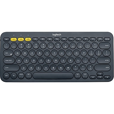 Logitech K380 Wireless Bluetooth Compact Multi-Device Keyboard for Computers, Tablets and Smartphones Dark Grey (920-007558)