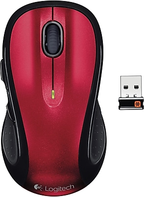 Logitech M510 Wireless Laser Mouse, Red (910-004554)