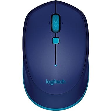 Logitech M535 Wireless Bluetooth Compact Optical Mouse, Ambidextrous, Blue (910-004529)