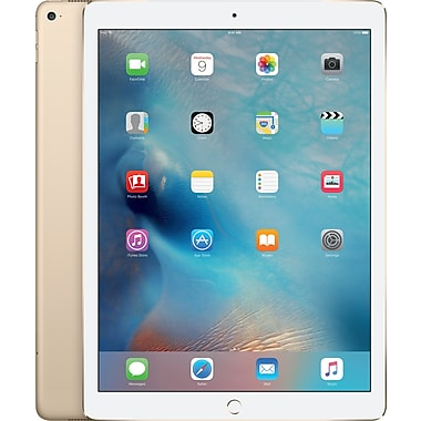 Apple – iPad Air Pro (ML2K2CL/A) 12,9 po, puce A9X, 128 Go, Wi-Fi + cellulaire, or