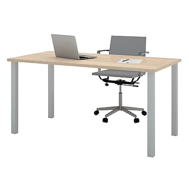 bestar 59.25'' Rectangular Training Table, Northern Maple (65865-38)