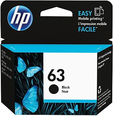 HP 63 Black Ink Cartridge, F6U62AN#140