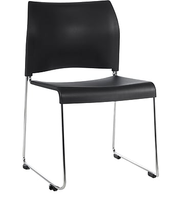 National Public Seating 8800 Series Stacking Chair, Black