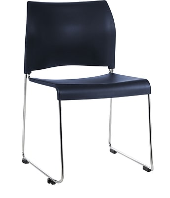 National Public Seating 8800 Series Stacking Chair, Navy