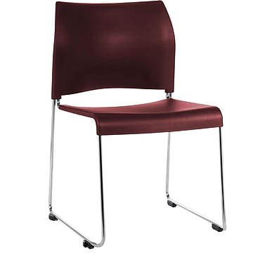 National Public Seating 8800 Series Stacking Chair, Burgundy