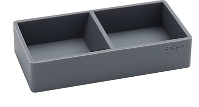 Poppin, Silicone This + That Tray, Dark Gray (103077)