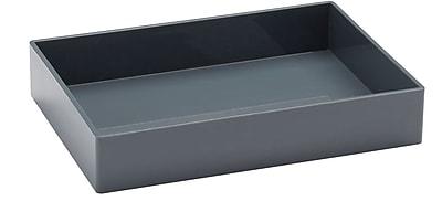 Poppin, Medium Accessory Tray, Dark Gray (102708)