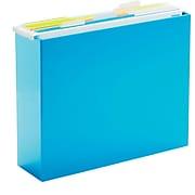 Poppin Pool Blue Hanging Plastic File Box