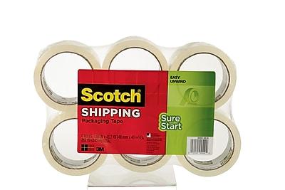 Scotch® Sure-Start Shipping Tape, 1.88