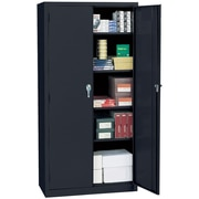 "Sandusky® Storage Cabinet, Black, 4-Shelf, 72""H x 36""W x 18""D"
