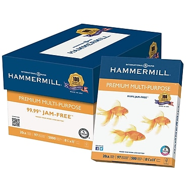 Hammermill® Premium Multipurpose Paper, White, 8 1/2