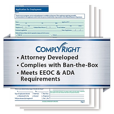 ComplyRight™ State-Compliant Job Application, Massachusetts