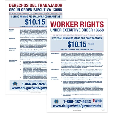ComplyRight Federal Minimum Wage for Contractors Poster