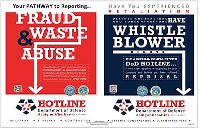 ComplyRight DOD Fraud and Whistleblower Hotline Poster, English (E2250)