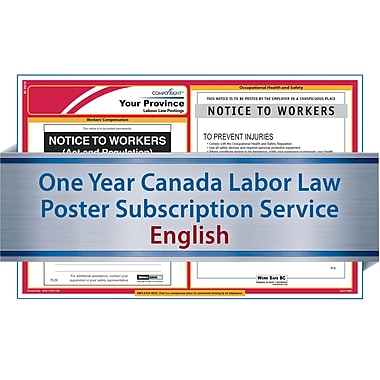 ComplyRight Canada Federal and Province (English) - Subscription Service, Ontario