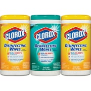 Clorox® Disinfecting Wipes Value Pack, 75 Count Canister, 3 Canister/Pack