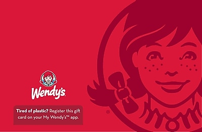 Wendy's Gift Card $100