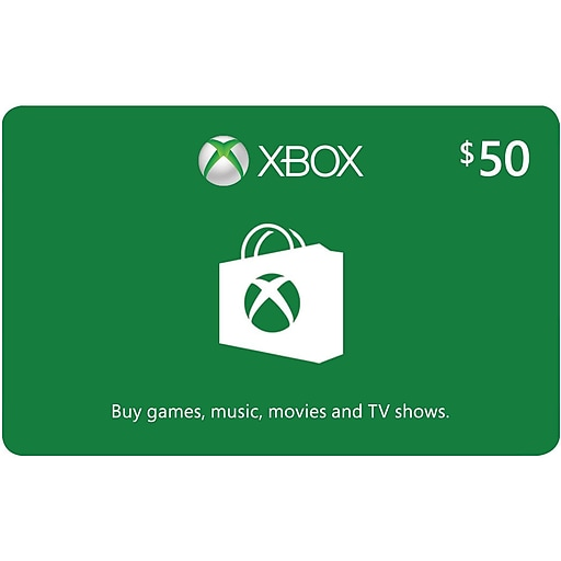 Microsoft Xbox Cash eGift Card $50