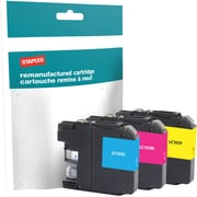 Staples® Reman Inkjet Cartridges, Brother LC-103XL (LC103C, LC103M, LC103Y) Cyan, Magenta, Yellow, High Yield, Multi-Pack