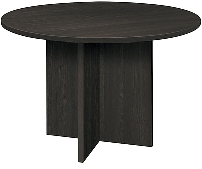 basyx by HON BL Series Round Conference Table, Espresso, 29.5
