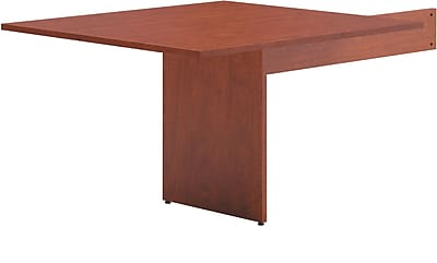 basyx by HON BL Series Rectangle Modular Conference Table End, Medium Cherry, 29.5